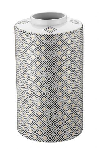 Kütahya Porselen Modern 35 cm Kapaklı Vazo 10917 - Thumbnail (1)