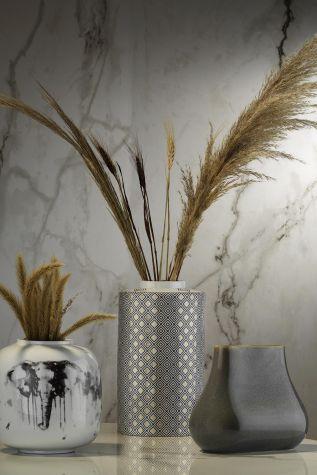 Kütahya Porselen - Kütahya Porselen Modern 35 cm Kapaklı Vazo 10917