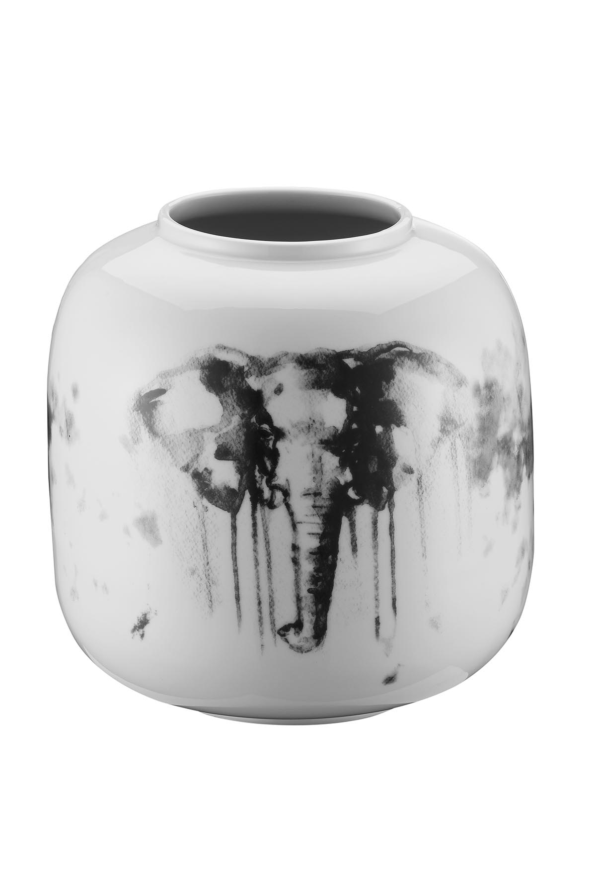 Kütahya Porselen Modern 25 Cm.Kapakli Vazo 10918
