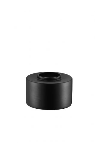 Kütahya Porselen Modern 14 cm Vazo Mat Siyah - Thumbnail (1)