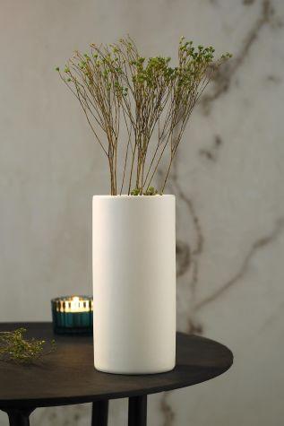 KÜTAHYA PORSELEN - Kütahya Porselen Modern 15 Cm Vazo Mat Krem