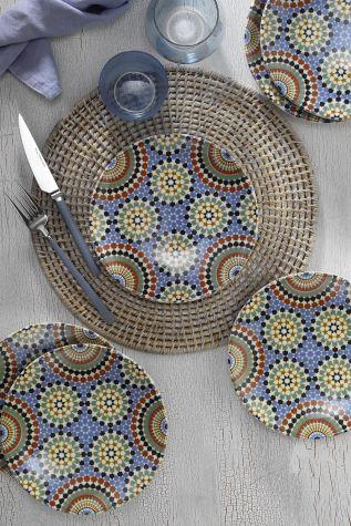 Kütahya Porselen - Kütahya Porselen Nanoceram 6 'lı Pasta Tabağı 880154