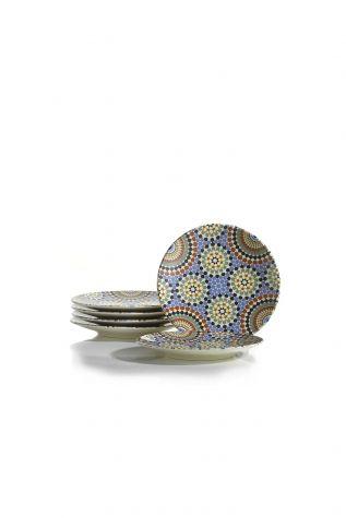Kütahya Porselen Nanoceram 6 'lı Pasta Tabağı 880154 - Thumbnail (1)
