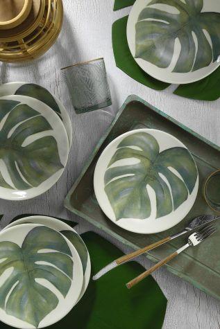 Kütahya Porselen - Kütahya Porselen Nanoceram 6'lı Pasta Tabağı 880166