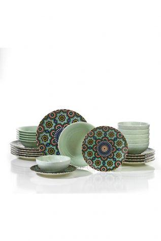 Kütahya Porselen Nanoceram 24 Parça Yemek Seti 880152G - Thumbnail (1)