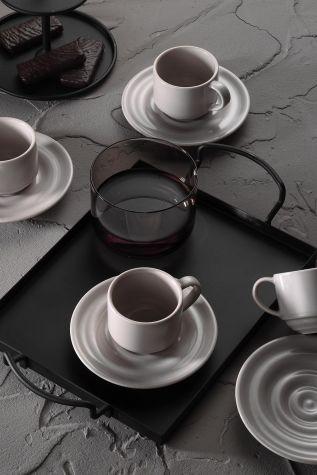 Kütahya Porselen - Kütahya Porselen New Tuvana Kahve Takımı Bej