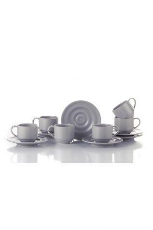 Kütahya Porselen New Tuvana Kahve Takımı Bej - Thumbnail (1)