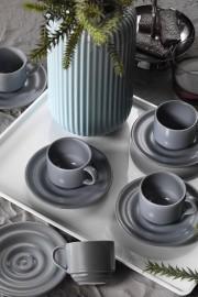 Kütahya Porselen New Tuvana Kahve Takımı Gri - Thumbnail