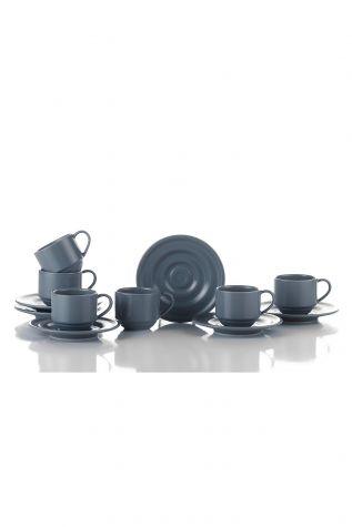 Kütahya Porselen New Tuvana Kahve Takımı Gri - Thumbnail (1)