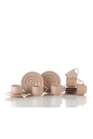 Kütahya Porselen New Tuvana Kahve Takımı Pembe - Thumbnail (1)