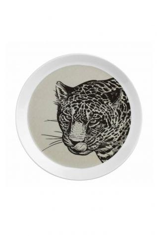 Kütahya Porselen - Kütahya Porselen Doğadakiler 27 cm Servis Tabağı Kaplan