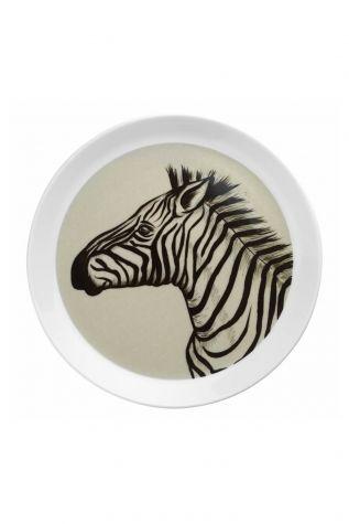 Kütahya Porselen - Kütahya Porselen Doğadakiler 27 cm Servis Tabağı Zebra