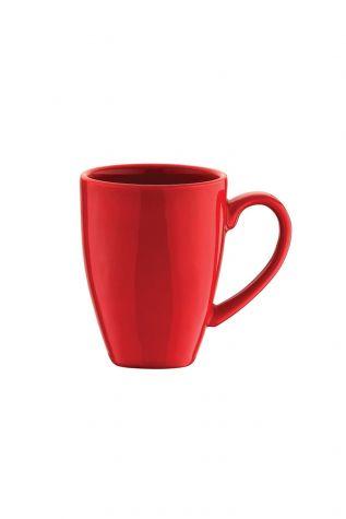 Naturaceram 6'lı Prizma Mug Kırmızı Renk - Thumbnail (1)