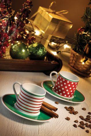 Kütahya Porselen - Kütahya Porselen Puantiyeli Kahve Takımı