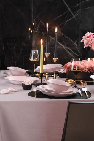 Kütahya Porselen - Kütahya Porselen Rosa 29 Parça Yemek Takımı Mat Pembe