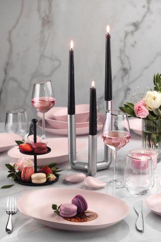 Kütahya Porselen Rosa 29 Parça Yemek Takımı Mat Pembe - Thumbnail (1)