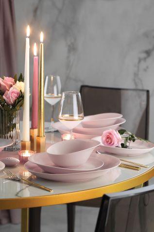 Kütahya Porselen Rosa 29 Parça Yemek Takımı Mat Pembe - Thumbnail (3)