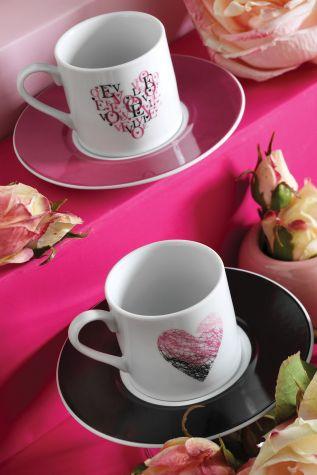 Kütahya Porselen - Kütahya Porselen Rüya 10234 Desen Kahve Fincan Takımı