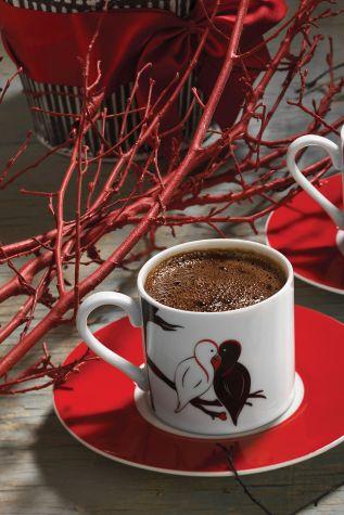 Kütahya Porselen - Kütahya Porselen Rüya 10486 Desen Kahve Fincan Takımı