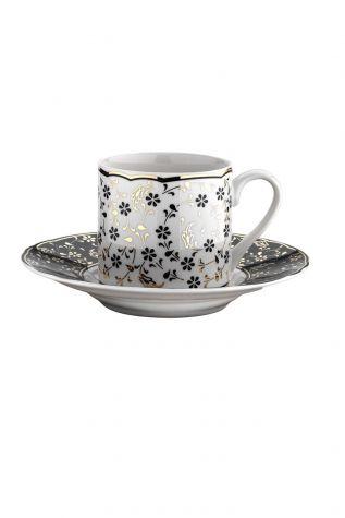 Kütahya Porselen - Kütahya Porselen Rüya 1121 Desen Kahve Fincan Takımı