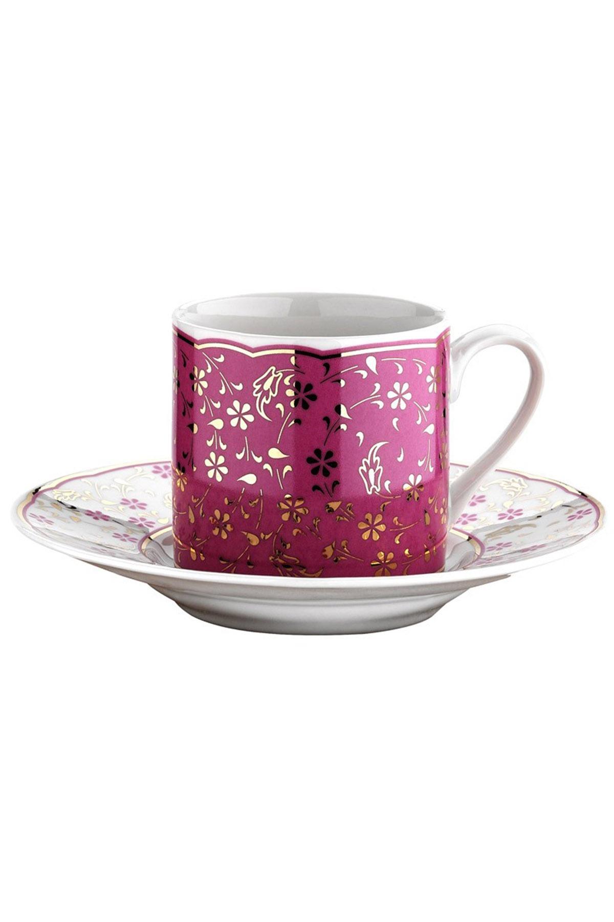Kütahya Porselen - Kütahya Porselen Rüya 4142 Desen Kahve Fincan Takımı