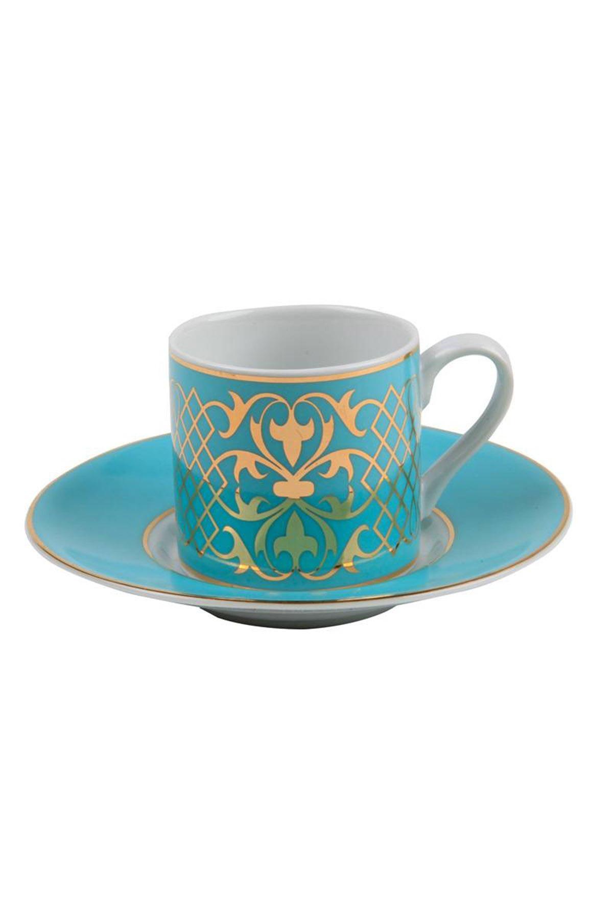 Kütahya Porselen - Kütahya Porselen Rüya 6827 Desen Kahve Fincan Takımı