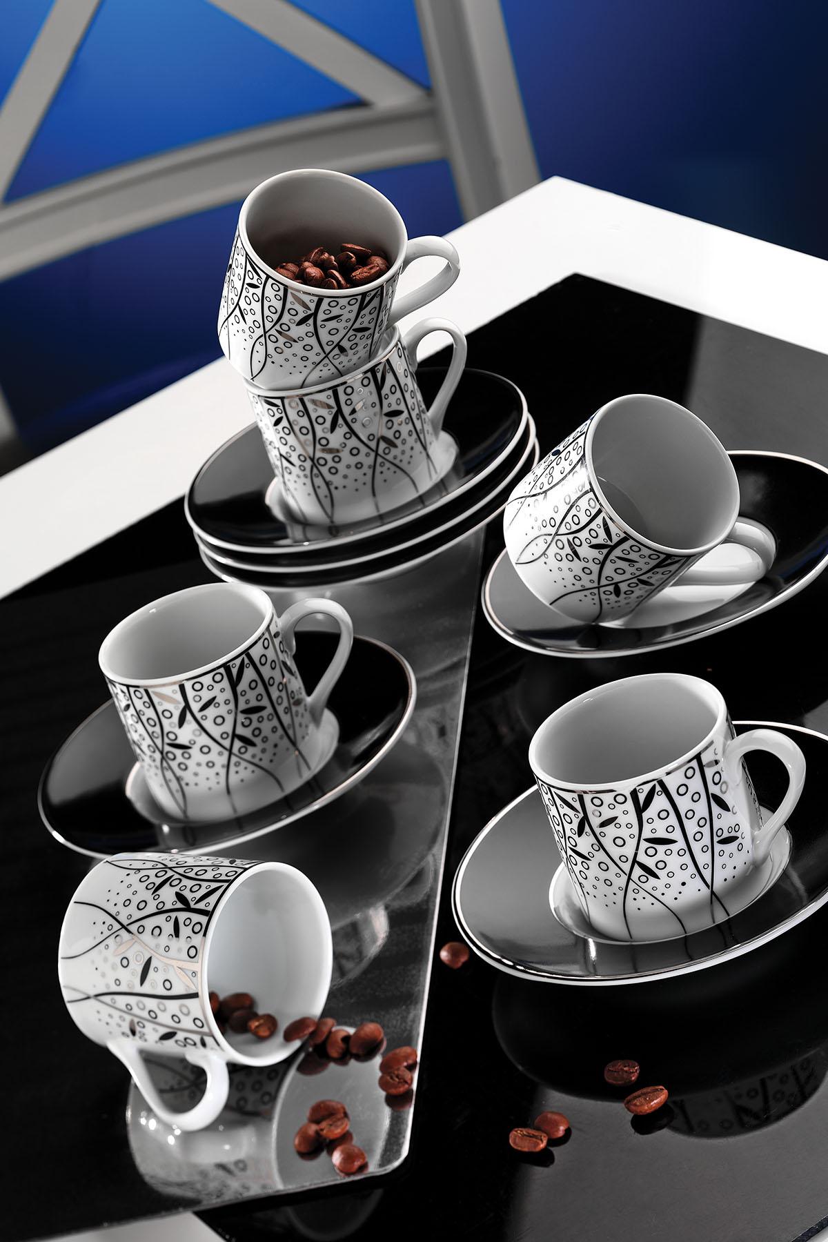 Kütahya Porselen Rüya 7041 Desen Kahve Fincan Takımı