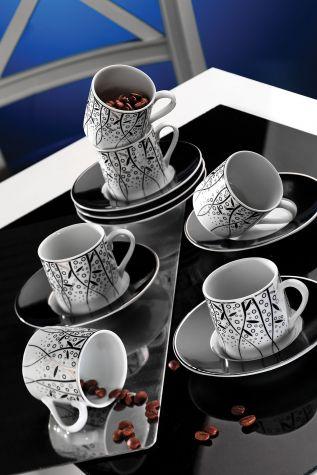 Kütahya Porselen - Kütahya Porselen Rüya 7041 Desen Kahve Fincan Takımı