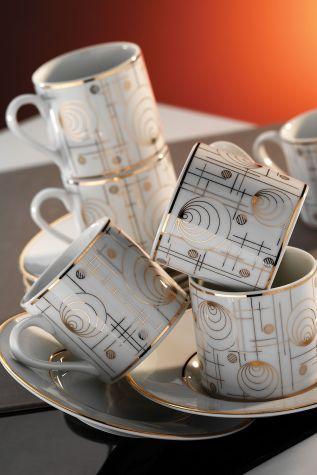 Kütahya Porselen - Kütahya Porselen Rüya 7042 Desen Kahve Fincan Takımı