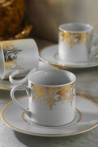 Kütahya Porselen - Kütahya Porselen Rüya 7044 Desen Kahve Fincan Takımı