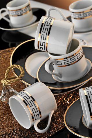 Kütahya Porselen - Kütahya Porselen Rüya 7045 Desen Kahve Fincan Takımı