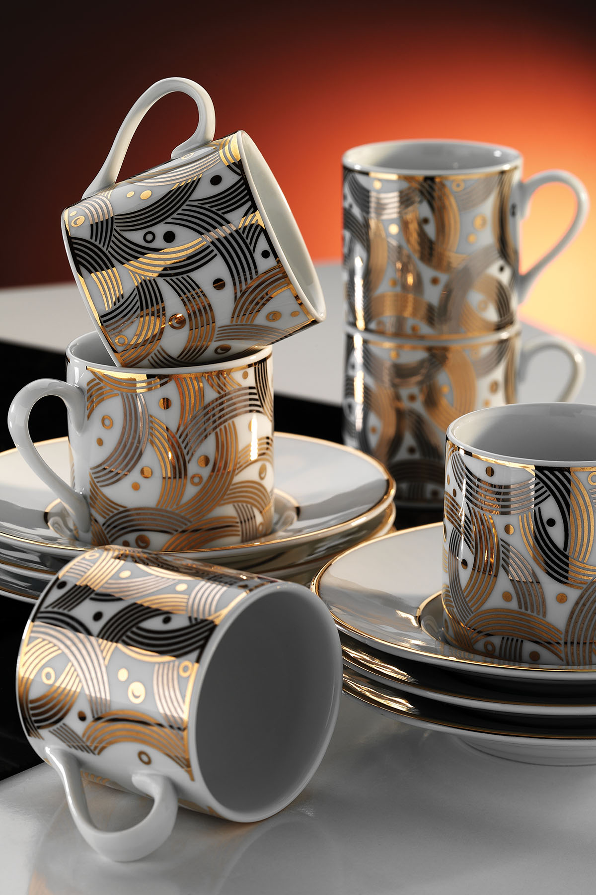 Kütahya Porselen - Kütahya Porselen Rüya 7055 Desen Kahve Fincan Takımı