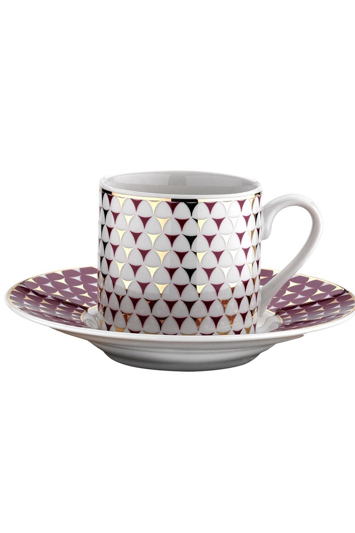 KÜTAHYA PORSELEN - Kütahya Porselen Rüya 77512 Desen Kahve Fincan Takımı