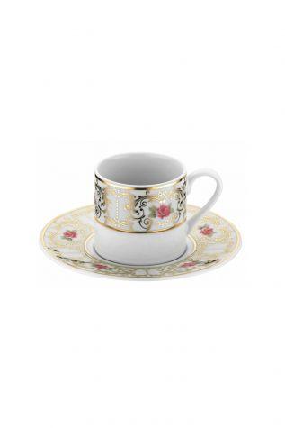 Kütahya Porselen - Kütahya Porselen Rüya 7734 Desen Kahve Fincan Takımı
