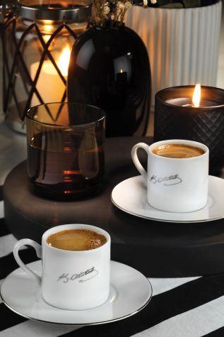 Kütahya Porselen - Kütahya Porselen Atatürk İmzalı Kahve Takımı