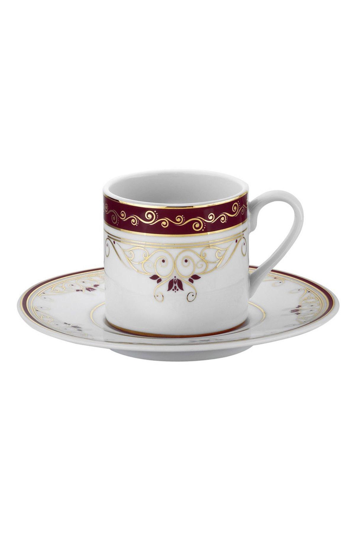 Kütahya Porselen - Kütahya Porselen Rüya 7505 Desen Kahve Fincan Takımı