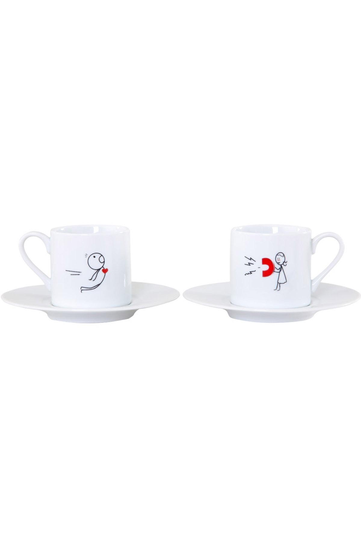 Kütahya Porselen - Kütahya Porselen Rüya 8078 Desen Kahve Fincan Takımı