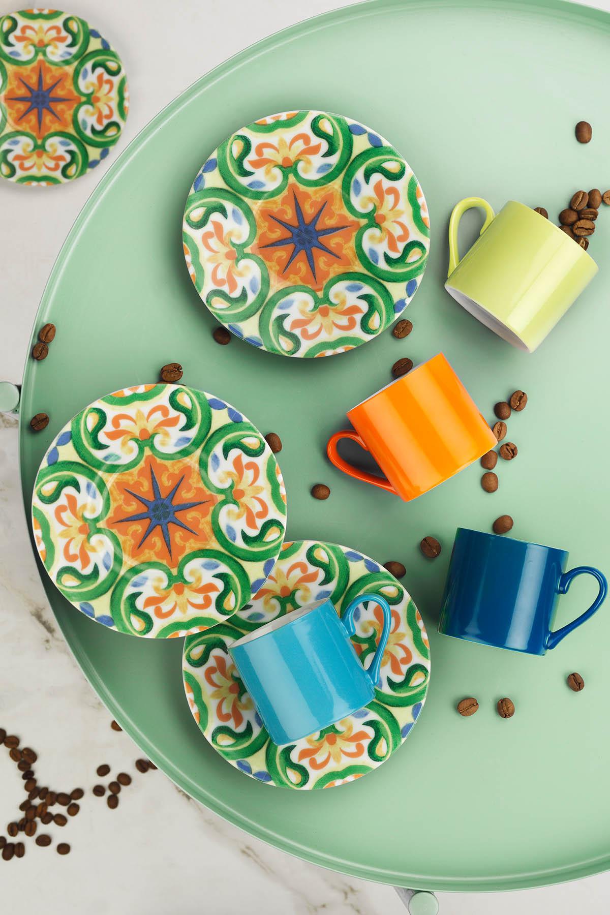 Kütahya Porselen Rüya 898301 Desen Kahve Fincan Takımı