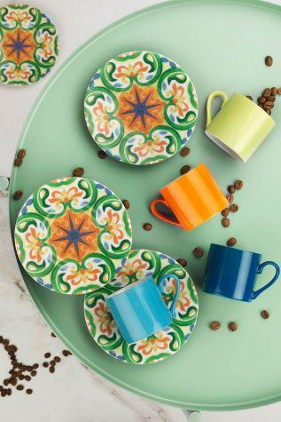 Kütahya Porselen Rüya 898301 Desen Kahve Fincan Takımı - Thumbnail (1)