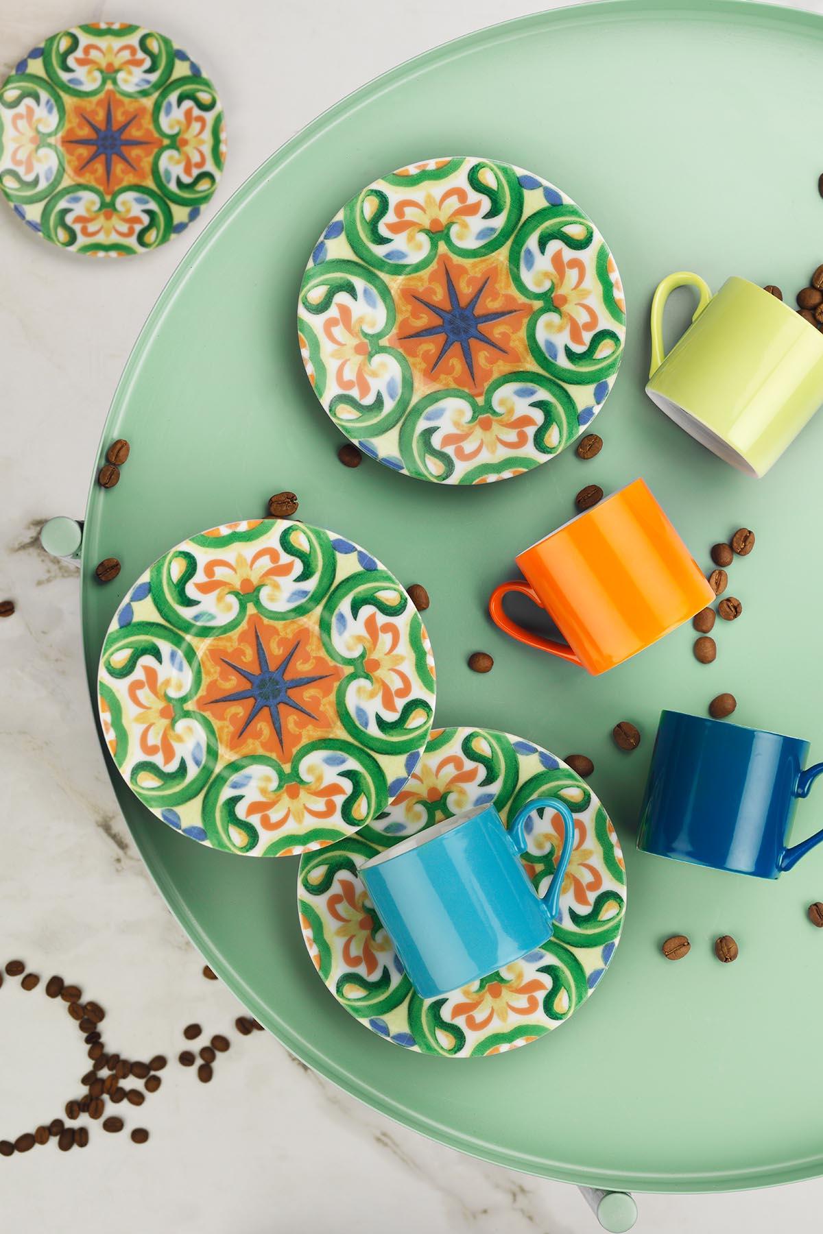 KÜTAHYA PORSELEN - Kütahya Porselen Rüya 898301 Desen Kahve Fincan Takımı