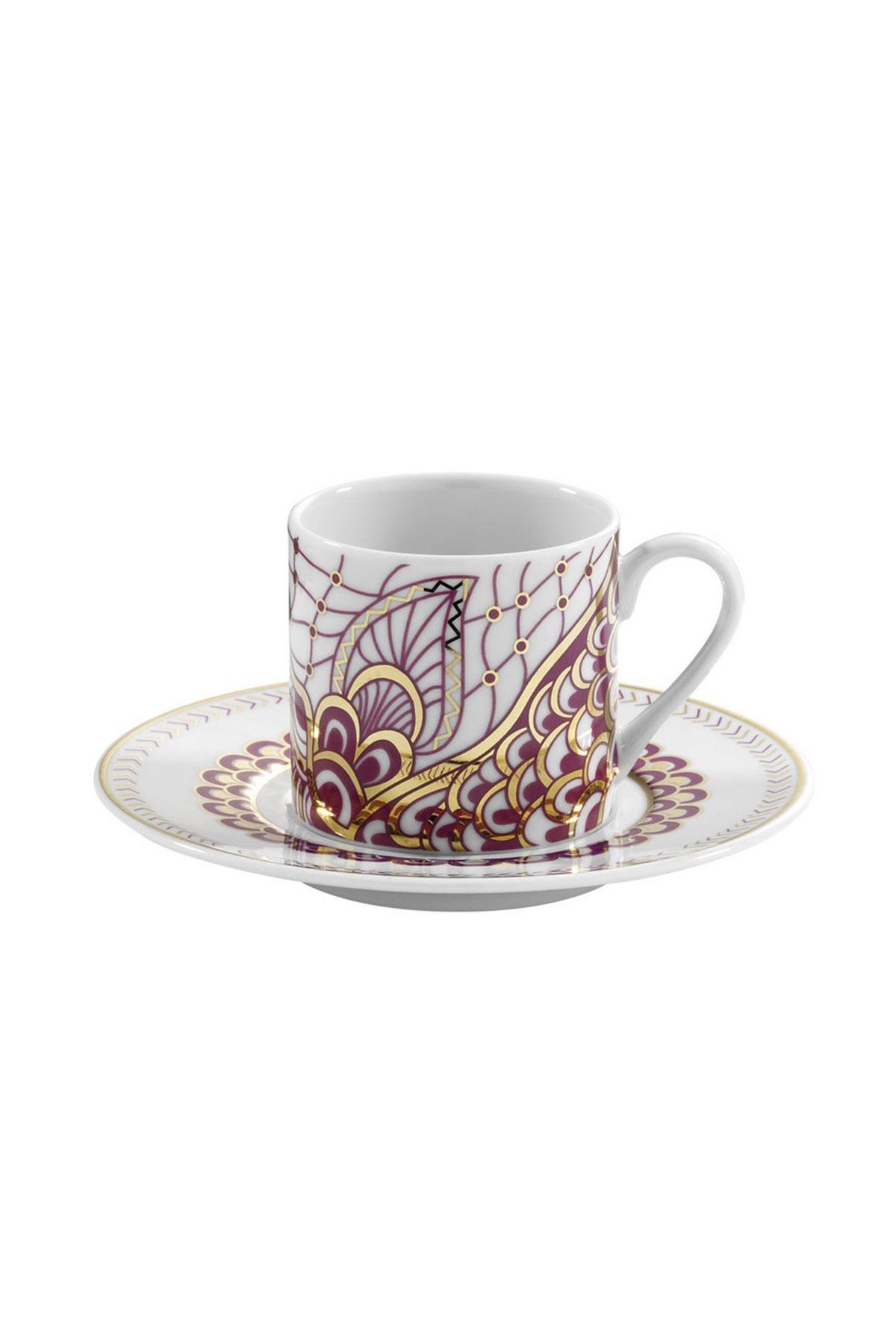 Kütahya Porselen - Kütahya Porselen Rüya 9107 Desen Kahve Fincan Takımı