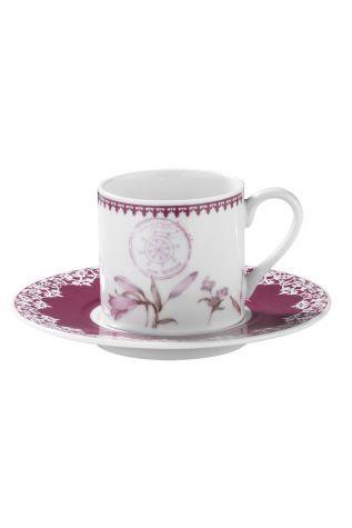 Kütahya Porselen - Kütahya Porselen Rüya 9743 Desen Kahve Fincan Takımı