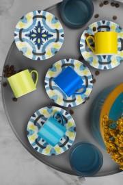 Kütahya Porselen Rüya 898302 Desen Kahve Fincan Takımı - Thumbnail