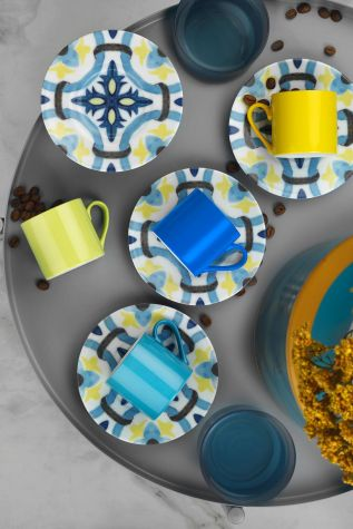 Kütahya Porselen Rüya 98302 Desen Kahve Fincan Takımı - Thumbnail (1)