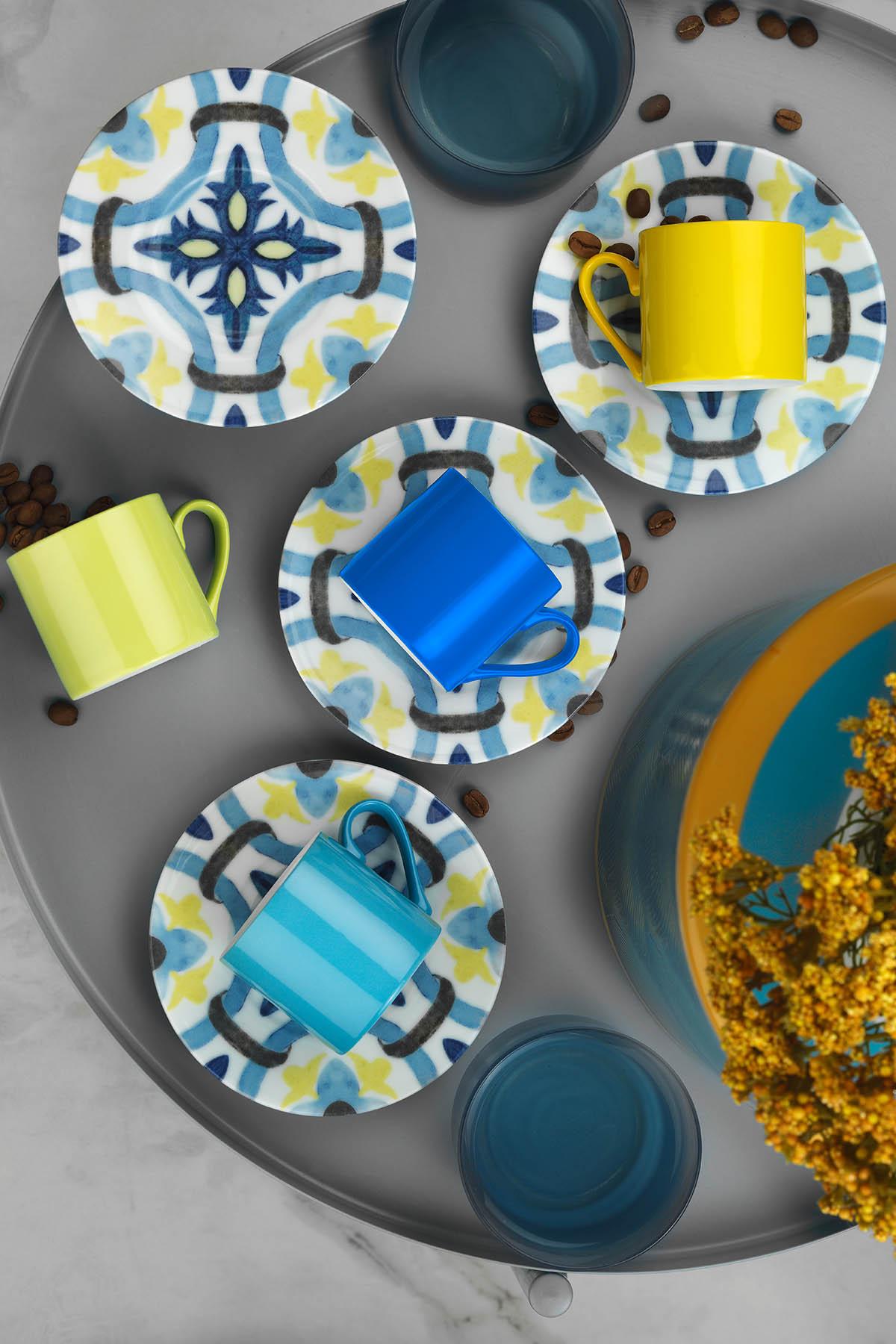 Kütahya Porselen Rüya 898302 Desen Kahve Fincan Takımı