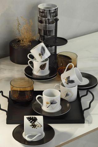 Kütahya Porselen - Kütahya Porselen Golden Lief Kahve Takımı