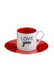 Kutahya Porselen Ruya Kahve Takımı 4908R17 - Thumbnail