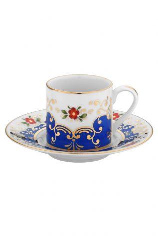 Kütahya Porselen - Kütahya Porselen Rüya Kahve Takımı Lacivert
