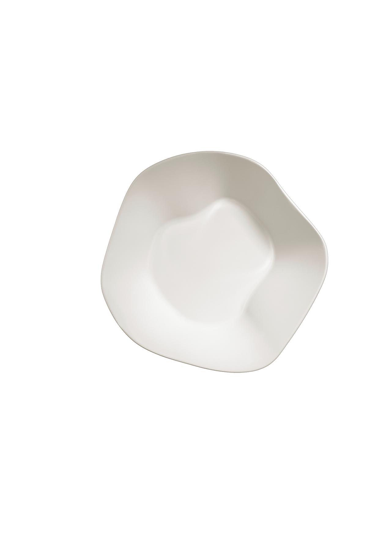 Kütahya Porselen Skallop 2'li 18 cm Kase Seti Krem