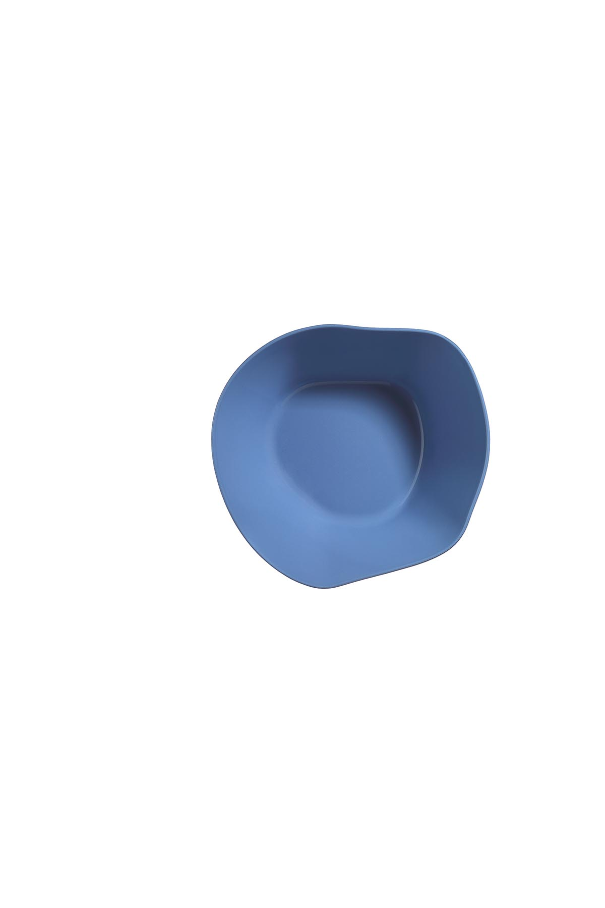 Kütahya Porselen Skallop 2'li 23 cm Büyük Kase Seti Mavi